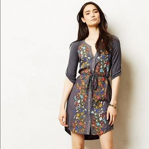 Anthropologie tiny embroidered tunic/dress